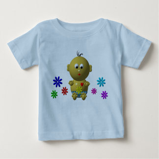 BOUNCING BABY BOY WITH 7 FLOWERS BABY T-Shirt