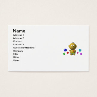 BOUNCING BABY BOY WITH 7 FLOWERS BUSINESS CARD