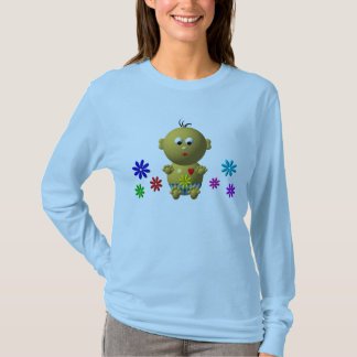 BOUNCING BABY BOY WITH 7 FLOWERS T-Shirt