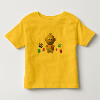BOUNCING BABY BOY WITH 7 FLOWERS TODDLER T-SHIRT