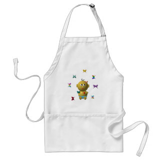 BOUNCING BABY BOY WITH 9 BUTTERFLIES ADULT APRON