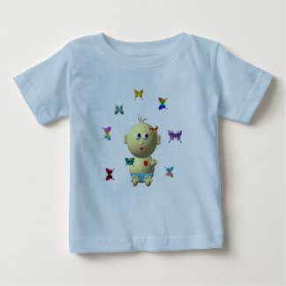 BOUNCING BABY BOY WITH 9 BUTTERFLIES BABY T-Shirt