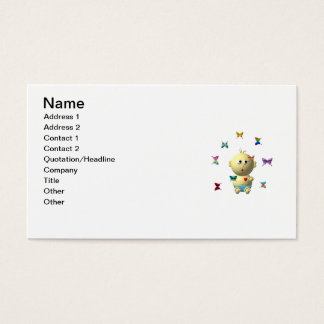 BOUNCING BABY BOY WITH 9 BUTTERFLIES BUSINESS CARD