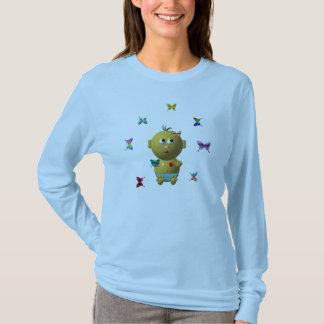 BOUNCING BABY BOY WITH 9 BUTTERFLIES T-Shirt