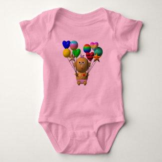 BOUNCING BABY GIRL WITH 10 BALLOONS BABY BODYSUIT