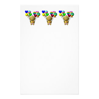 BOUNCING BABY GIRL WITH 10 BALLOONS STATIONERY