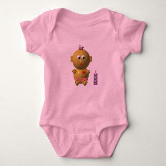 BOUNCING BABY GIRL WITH 1 BOTTLE BABY BODYSUIT