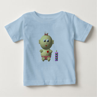 BOUNCING BABY GIRL WITH 1 BOTTLE BABY T-Shirt