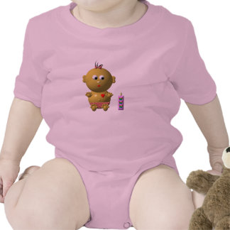 BOUNCING BABY GIRL WITH 1 BOTTLE ROMPERS