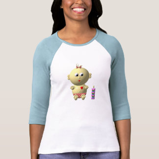 BOUNCING BABY GIRL WITH 1 BOTTLE SHIRT
