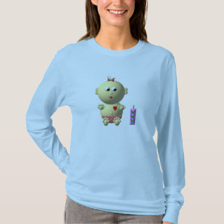 BOUNCING BABY GIRL WITH 1 BOTTLE T-Shirt