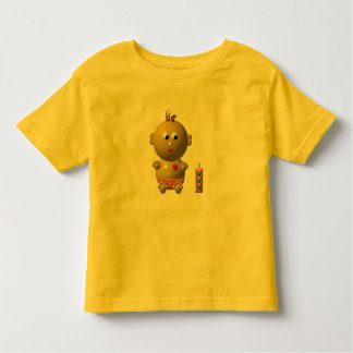 BOUNCING BABY GIRL WITH 1 BOTTLE TODDLER T-SHIRT