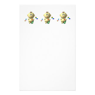BOUNCING BABY GIRL WITH 4 DRAGONFLIES STATIONERY