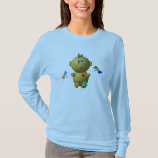 BOUNCING BABY GIRL WITH 4 DRAGONFLIES T-Shirt