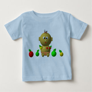 BOUNCING BABY GIRL WITH 6 APPLES BABY T-Shirt