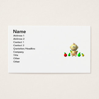 BOUNCING BABY GIRL WITH 6 APPLES BUSINESS CARD