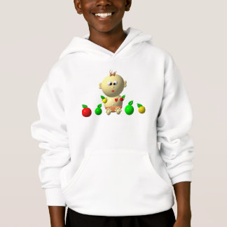 BOUNCING BABY GIRL WITH 6 APPLES HOODIE