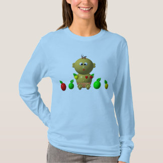 BOUNCING BABY GIRL WITH 6 APPLES T-Shirt