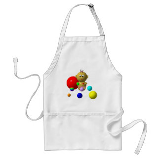 BOUNCING BABY GIRL WITH 8 BALLS ADULT APRON