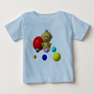 BOUNCING BABY GIRL WITH 8 BALLS BABY T-Shirt
