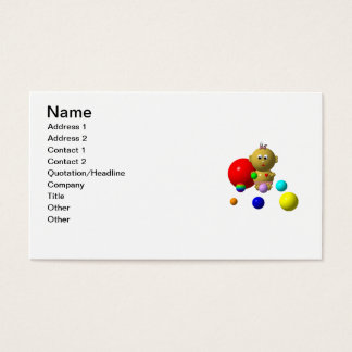 BOUNCING BABY GIRL WITH 8 BALLS BUSINESS CARD