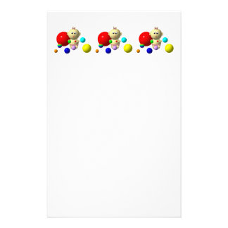 BOUNCING BABY GIRL WITH 8 BALLS STATIONERY
