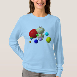 BOUNCING BABY GIRL WITH 8 BALLS T-Shirt