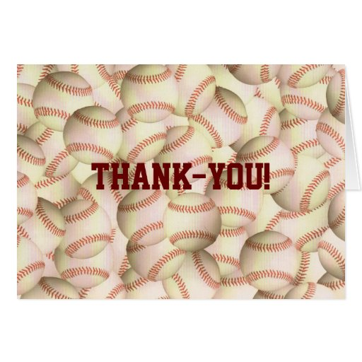 Bouncing Baseballs Thank-you Notecards Stationery Note Card
