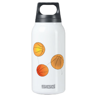 Bouncing Basketballs 10 Oz Insulated SIGG Thermos Water Bottle