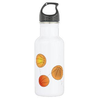 Bouncing Basketballs 18oz Water Bottle