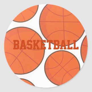 Bouncing Basketballs Personalized Sticker