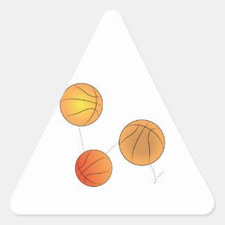Bouncing Basketballs Triangle Sticker