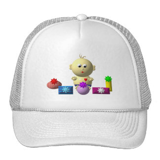 BOUNCING BOY WITH 5 PRESENTS TRUCKER HAT