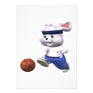 Bouncing Bunny Custom Invitations