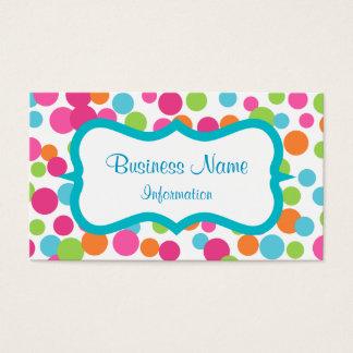 Bouncing Fun Dots Business Card