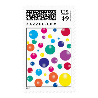 BOUNCING GUMBALLS POSTAGE STAMPS