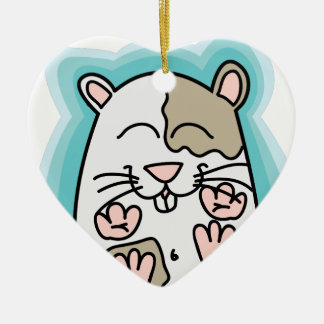 Bouncing Hamster Ceramic Ornament