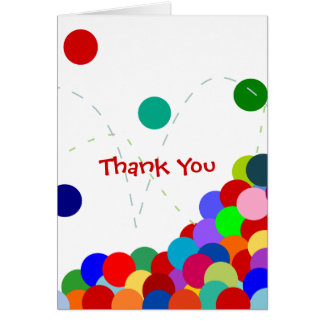Bouncing Party Thank You Note Card