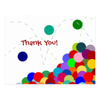 Bouncing Party Thank You Postcard