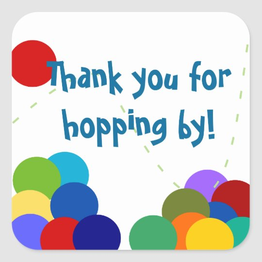 Bouncing Party Thank You Stickers