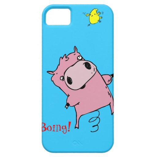Bouncing Piggy iPhone 5 case + credit card holder