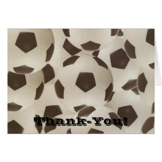 Bouncing Soccer Ball Thank-you Notecard Greeting Cards