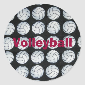 Bouncing Volleyballs Personalized Sticker
