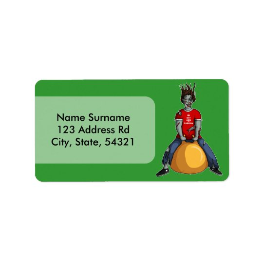 Bouncing Zombie 1, address label