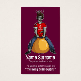 Bouncing Zombie 1, business card template
