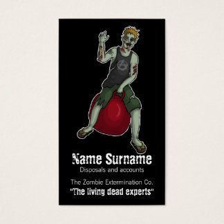 Bouncing Zombie 3, business card template