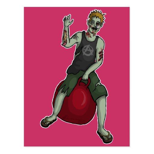 Bouncing Zombie 3, postcard