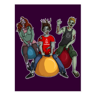 Bouncing Zombies, postcard