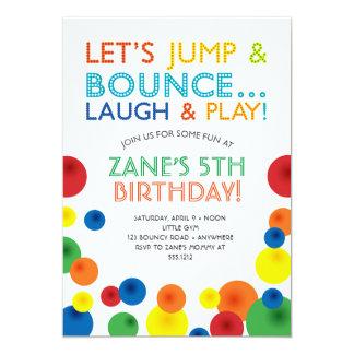 Bouncy Ball Birthday Invitation