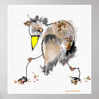 bouncy bird poster